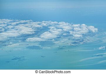 在上方, 飛行, bahamas.