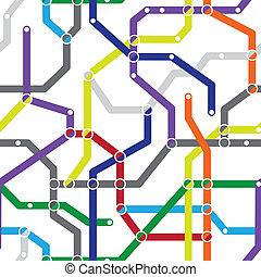 地下鐵道, 圖案, 摘要, -, seamless, 方案