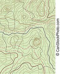 地圖, 不, 摘要, 矢量, 名字, 地形學