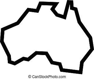 地圖, 形狀, 澳大利亞, 地理