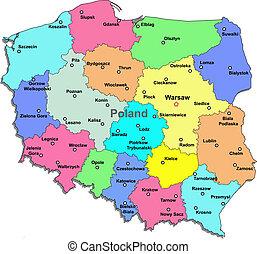 地圖, 波蘭