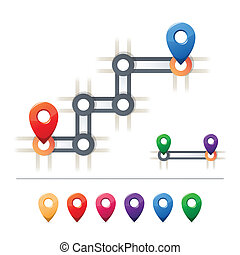 地圖, 目的地, 圖象