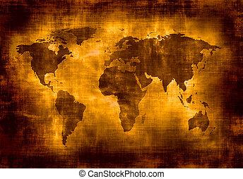 地圖, grunge, 世界