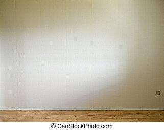 地板, 牆, 木制, 日光, 白色, 邊
