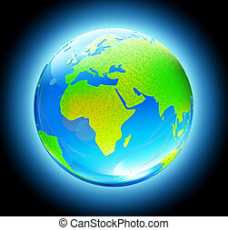地球全球, 有光澤