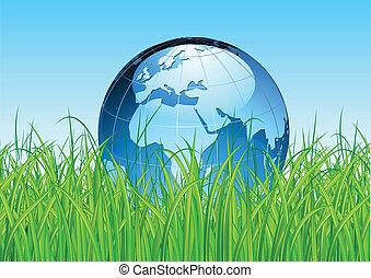地球全球, 有光澤, 地圖