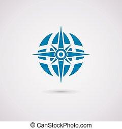 地球全球, 矢量, 指南針