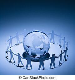 地球, 人們, 擁抱