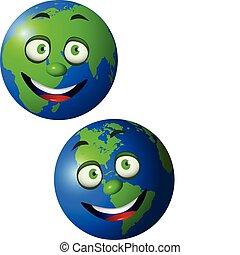 地球, 卡通