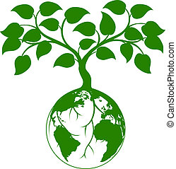 地球, 圖表, 樹