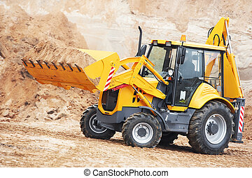 地球, 工作, 移動, 挖掘機, loader