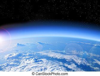 地球, 看法, 空間