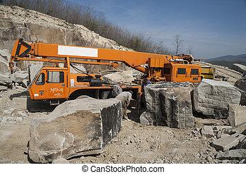 坑, 石頭, -, 采石場