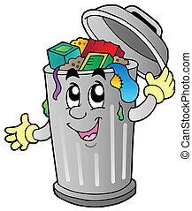 垃圾, 卡通, 罐頭