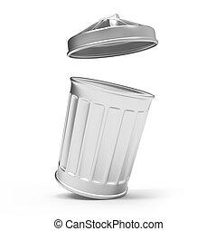 垃圾, 打開, 罐頭, 3d