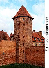 城堡, 波蘭, 塔, malbork