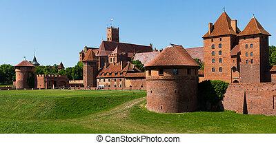 城堡, malbork, 波蘭