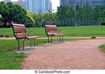 城市公園, 方式, 步行