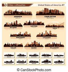 城市地平線, set., 10, 黑色半面畫像, 美國, #7