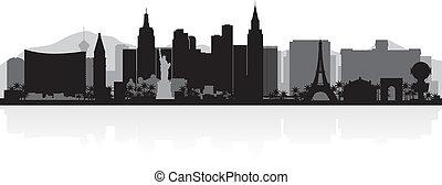 城市地平線, vegas, 黑色半面畫像, las