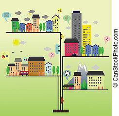 城市生活, 插圖