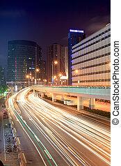 城市, 交通, 夜晚