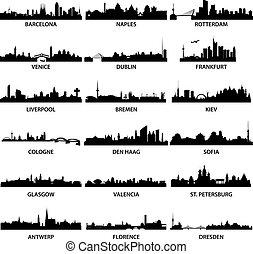 城市, 地平線, 歐洲