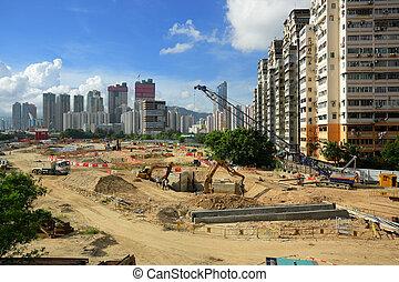 城市, 建築工地