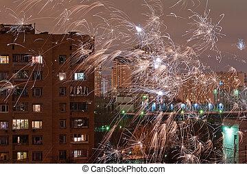城市, 煙火