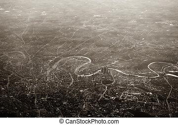 城市, 莫斯科, 空中的觀點