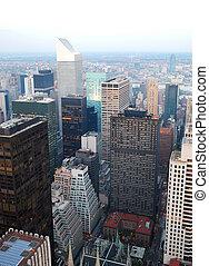 城市, 觀點。, 空中, 城市