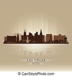 城市, 黑色半面畫像, vegas, 地平線, 內華達, las