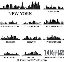 城市, #1, 集合, 黑色半面畫像, 美國