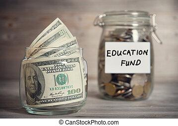 基金, 概念, 金融, 教育, label.