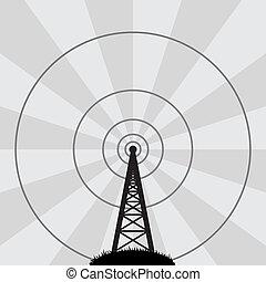 塔, 矢量, 收音机