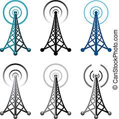 塔, 符號, 收音机