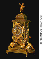 壁爐, 金, 鐘, 古董