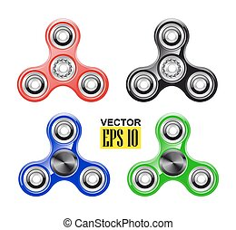壓力, spinner., 鮮艷, 流行, toy., 手, 旋轉, skills., 集合, reduction., 馬達, objects., flywheel., 好