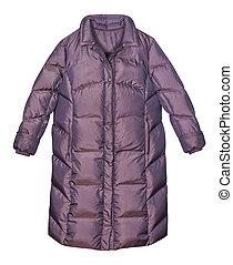 外套, 羽毛, 白色, 冬天, 背景