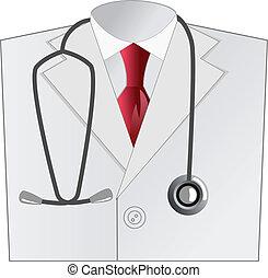外套, 醫學, 白色, 醫生