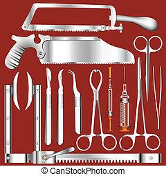 外科, 矢量, 工具