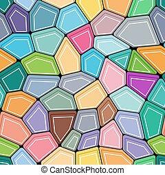 多角形, 五角大樓, seamless, 背景。, 設計, 顏色