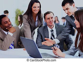 多, work., 事務, 討論, 种族, 會議, 執行