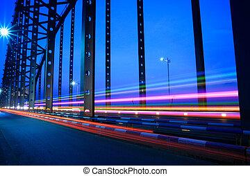 夜晚, 交通, 橋梁