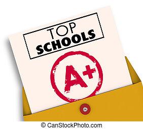大學, 學院, 頂部, 插圖, 學校, 最好, 報告卡片, 3d