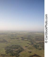 大草原, 空中的觀點