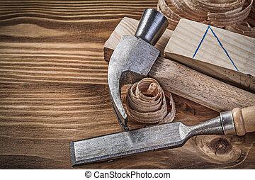 大頭釘, 木頭, 木制, 葡萄酒, 鑿子, firmer, 刨, 爪子榔頭