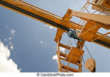 大, 起重機, 工廠, 舉起