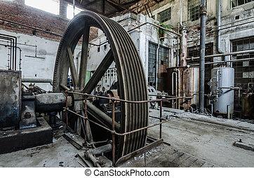 大, 輪子, 工廠, 驅動