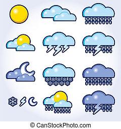 天氣, 矢量, 彙整, 圖象